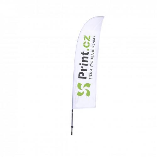 Reklamní vlajky Beach Flag, vlající, s prutem S | Print.cz