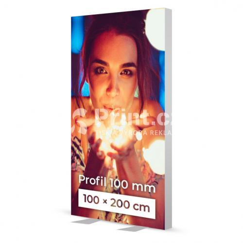 LED box s hliníkovým rámem 100 mm stojící a tiskem
