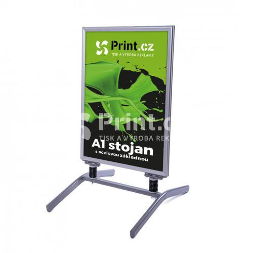 Reklamní A stojan s ocelovou základnou - velikost A1 s tiskem