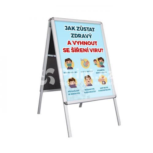 Reklamní A stojan - velikost A1 s tiskem (Covid)