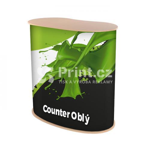Prezentační stolek Counter oblý s tiskem