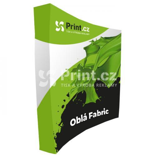 Pop Up textilní stěna Fabric oblá s tiskem