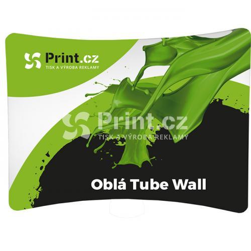 Textilní stěna Tube Wall oblá s tiskem