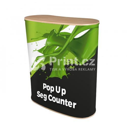 Prezentační stolek Pop Up Seg Counter s tiskem