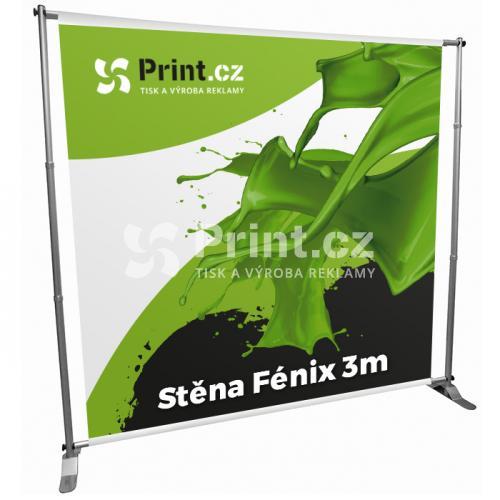 Nastavitelná stěna Fénix 3m s tiskem