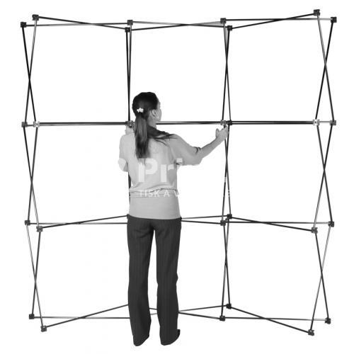 POP UP stěna IMPACT Bundle rovná bez tisku