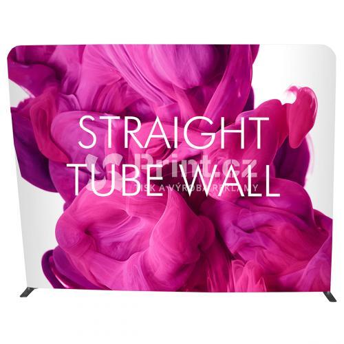 Textilní stěna Tube Wall rovná s tiskem