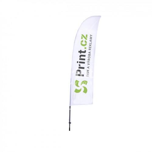 Vlající vlajka oboustranná s prutem a tiskem