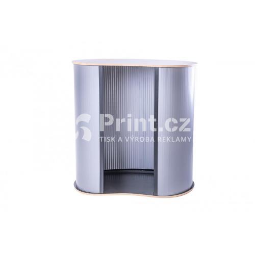 Prezentační stolek Counter oblý bez tisku